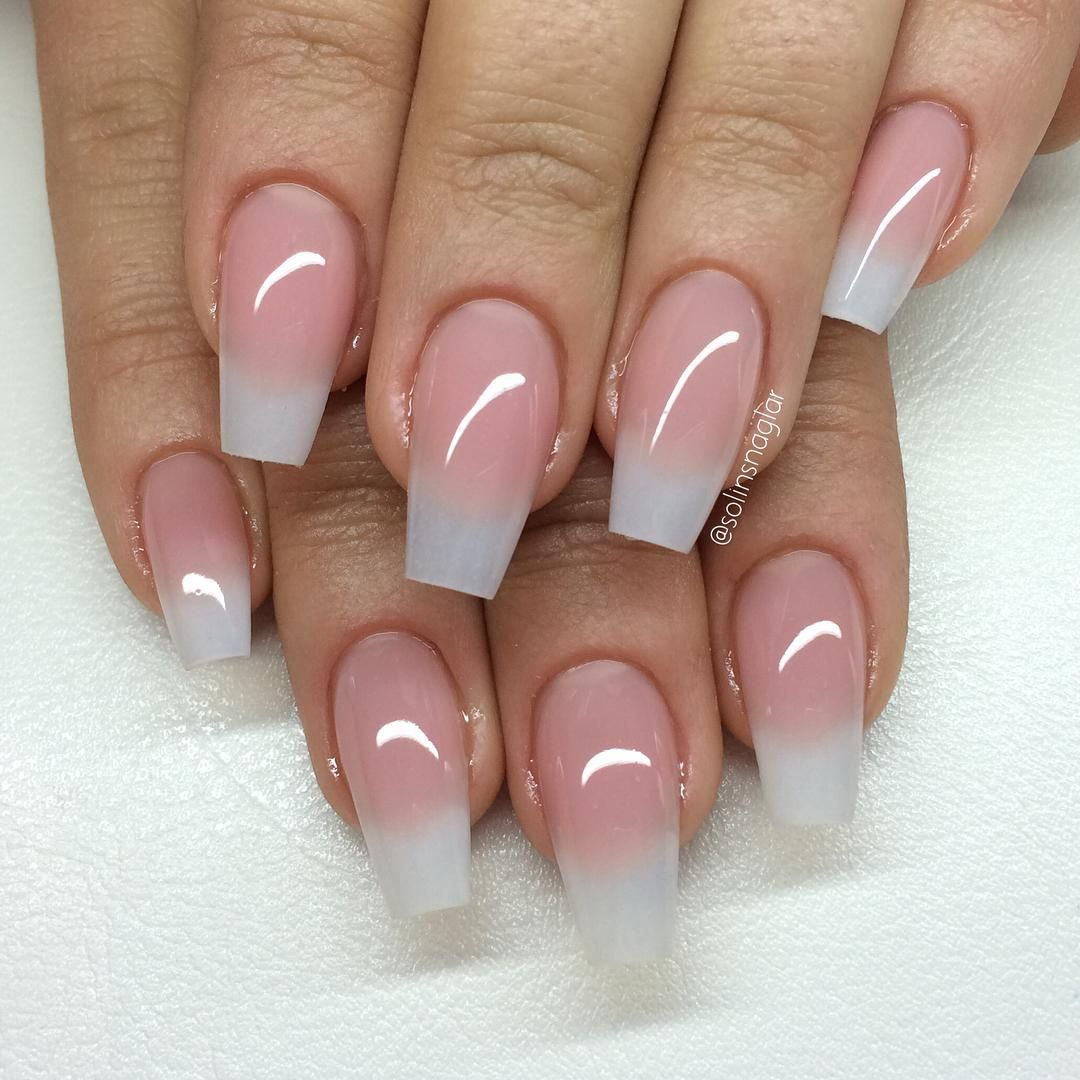 Natural look coffin nails. #nail | Nails | Almond acrylic ...