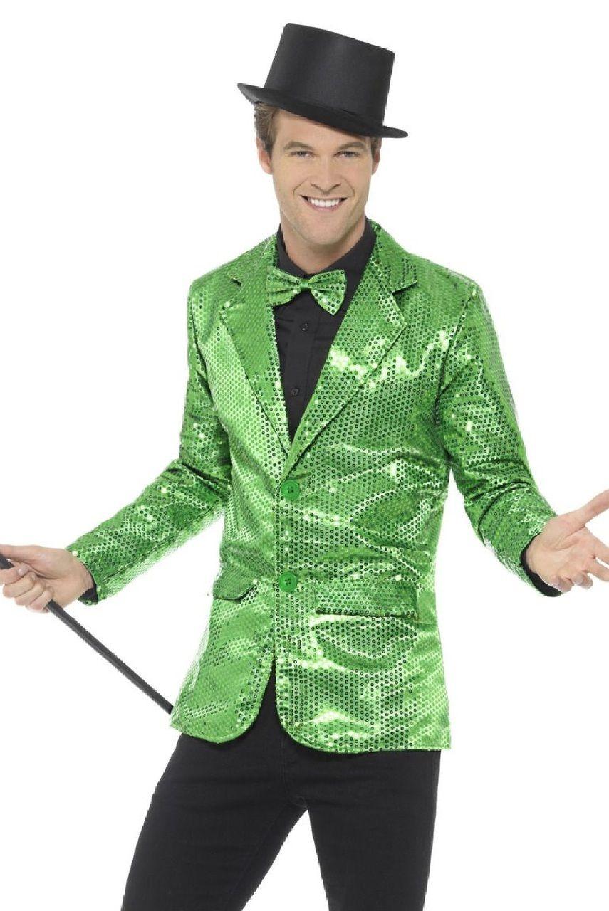 Mens Green Sequin Fancy Dress Jacket in 2020 Fancy dress