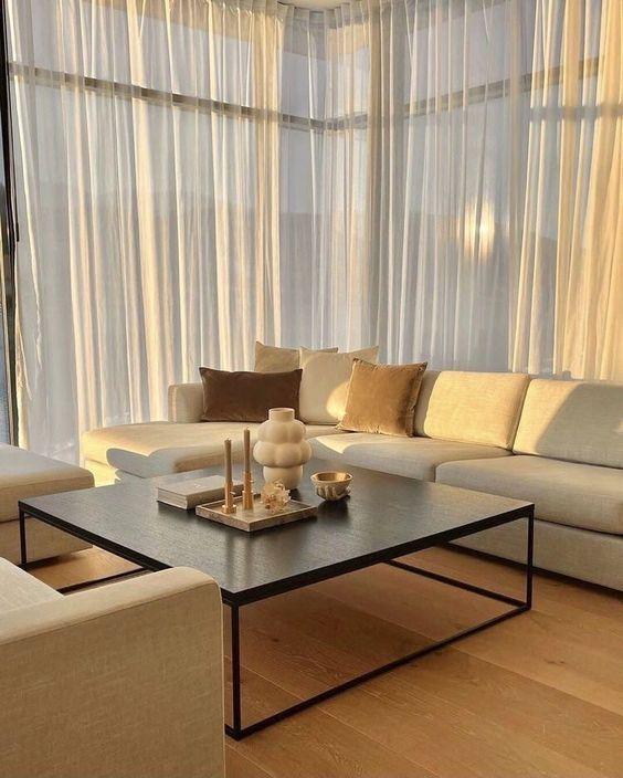 living room golden hour