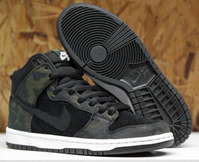 release date: f01fa 20f4d Nike SB Dunk High - Black Camouflage   KicksOnFire
