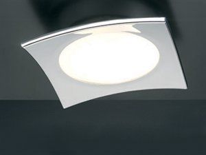 Eurofase F-2ESQ3-2N Esquadra 1-Light Flushmount Satin Nickel//White