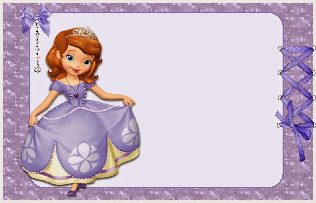 Princesa Sofía Invitaciones Para Imprimir Gratis