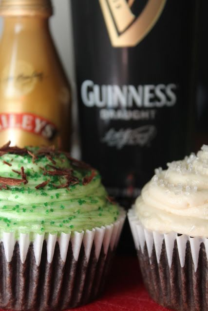Food For The Fresh: Guinness Cupcakes w/ Baileys Frosting