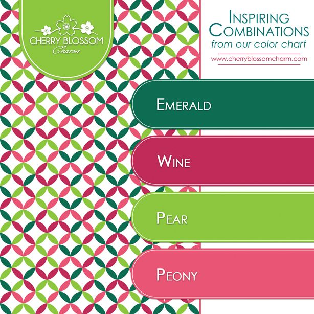 Pink Complementary Color color combinations | emerald green pink bright green pear peony