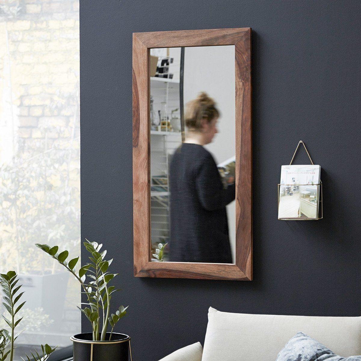 Miroir En Bois De Palissandre 100x50 Kwarto Taille Taille