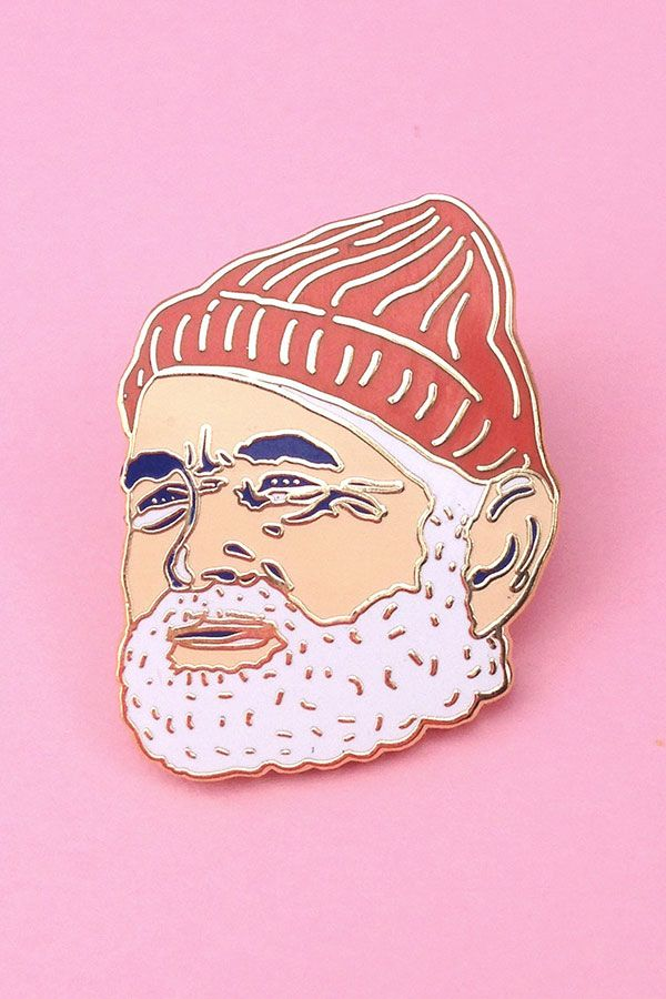 Steve Zissou / Bill Murray pin, from Wes Anderson's The Life Aquatic