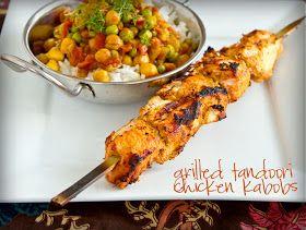 Chasing Some Blue Sky: Grilled Tandoori Chicken Kabobs