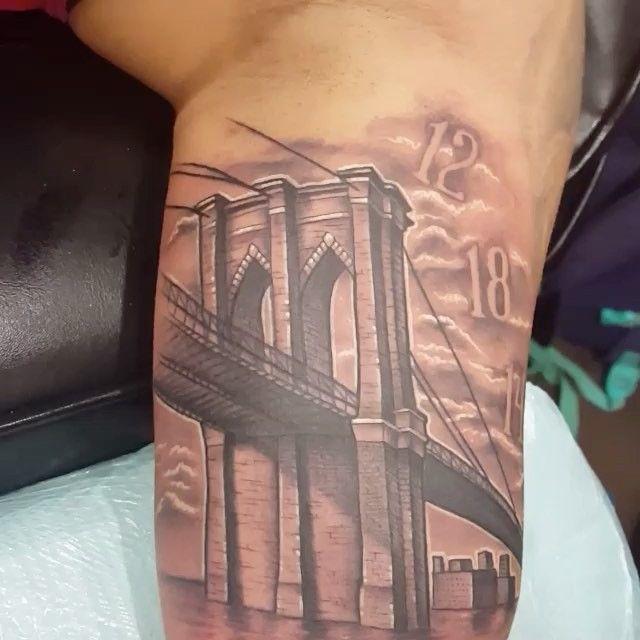 Nick Had A Blast With This Brooklyn Bridge Tattoo