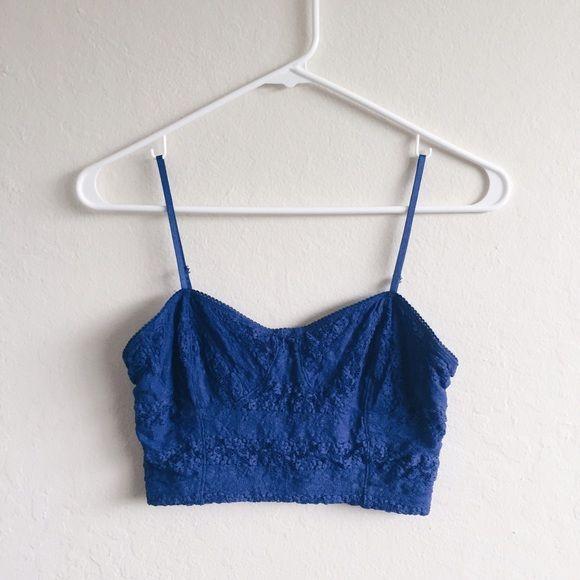 d2d029e706 Frenchi Blue Bralette. Royal BlueLace OverlayBraCrop TopsNecklineNordstromShort  ...