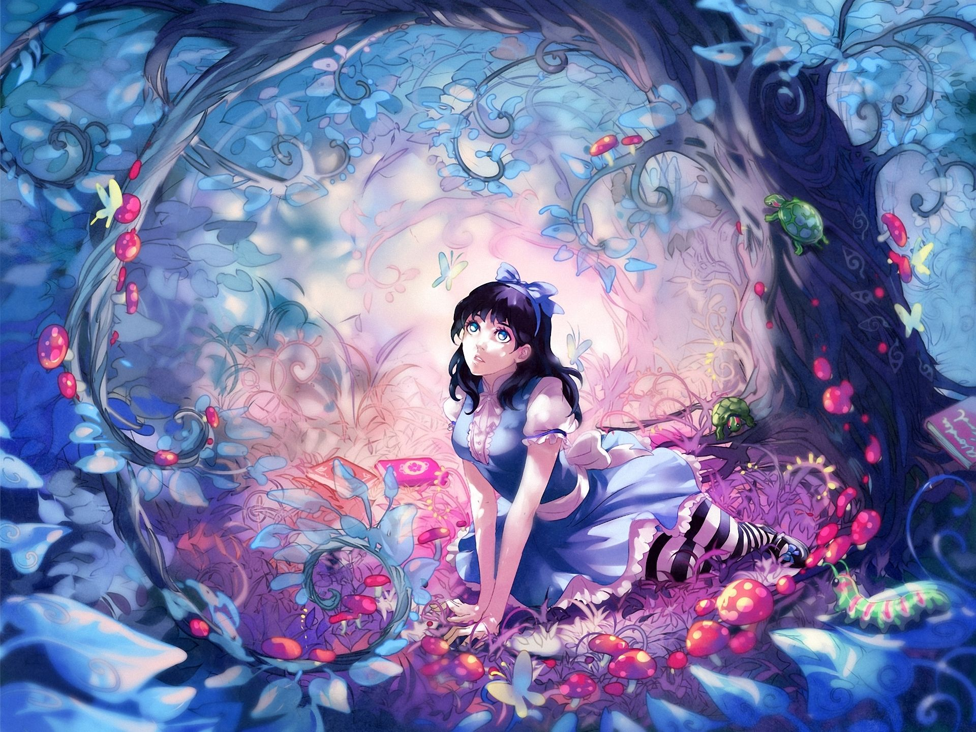 Anime Alice In Wonderland Wallpaper Alice in