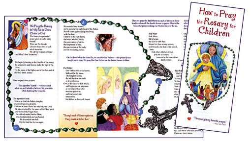 graphic relating to How to Pray the Rosary Printable Booklet identified as Printable Rosary Pamphlet pray the rosary key