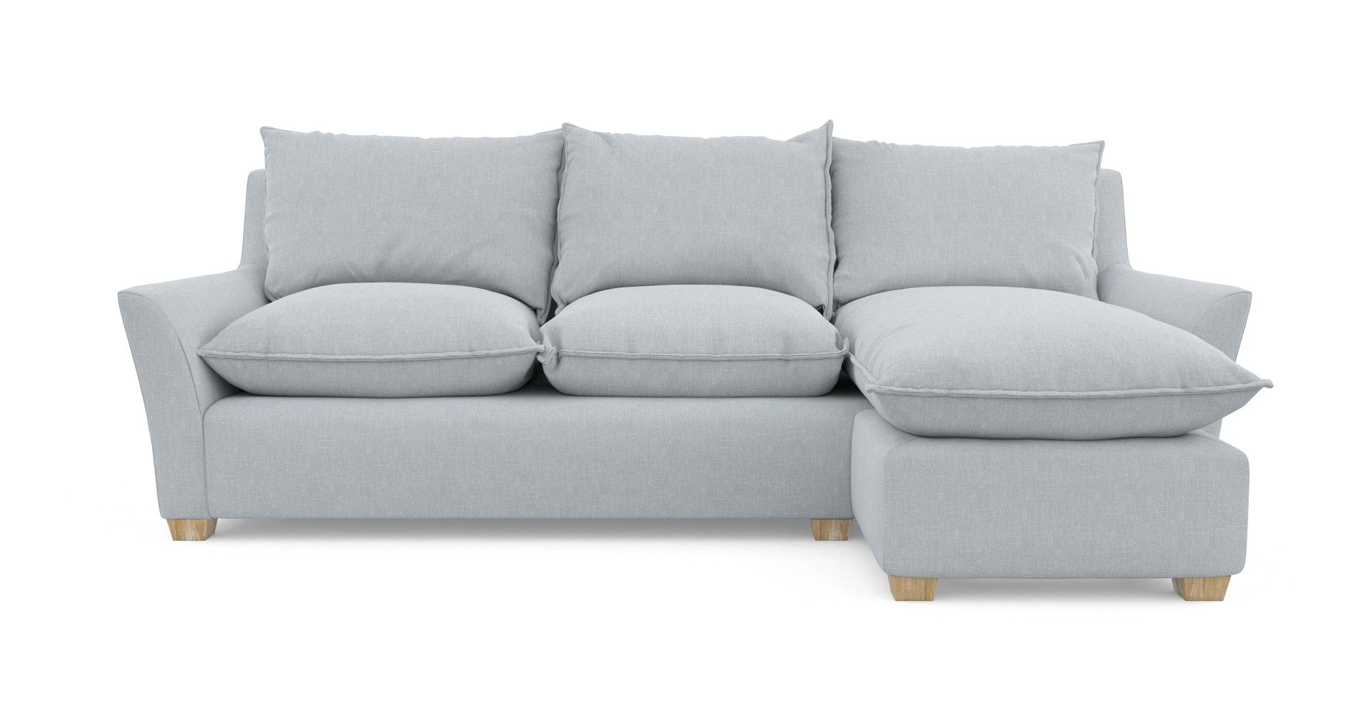 The Charleston 3 Seater Chaise Sofa is a stylishly plush piece with ...