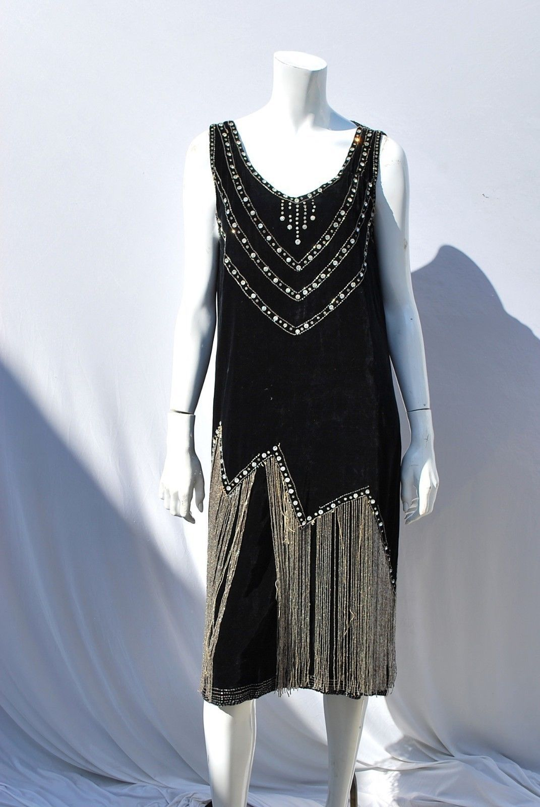 1920 lace dress  Vintage us FLAPPER Dress BEADED Art DECO jazz era party gatsby
