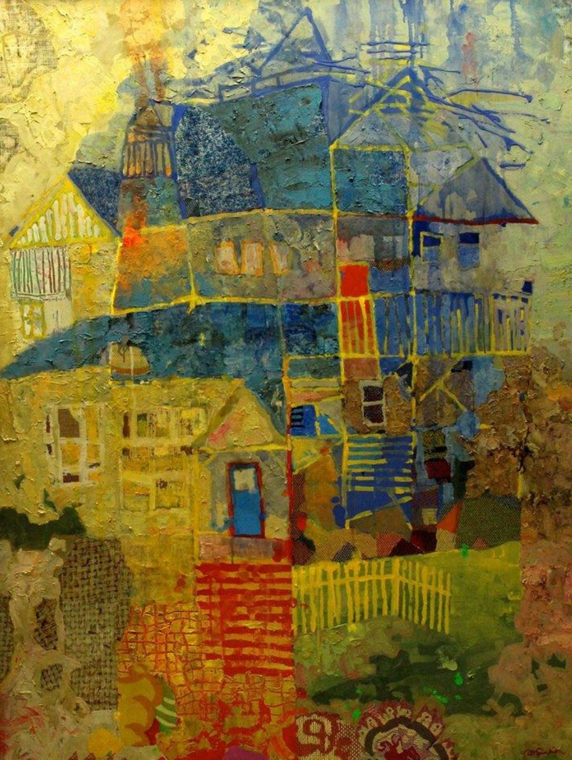 By mark english contempory art abstract landscape