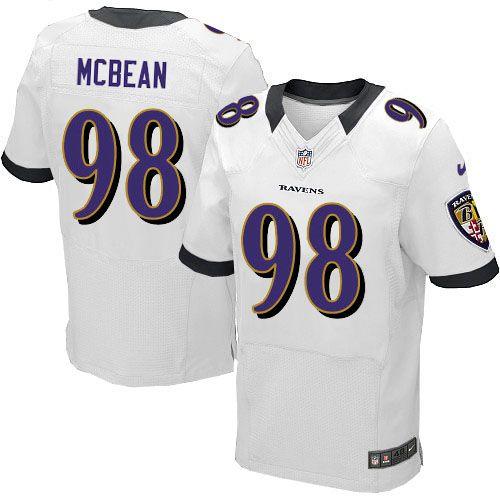Ryan McBean White Nike Elite Jersey | Ravens jersey, Nfl baltimore ...