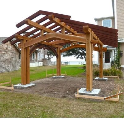 A Cruck For The Big Backyard Middot Outdoor Kitchen Pavilion Timber Framing Outdoor Pavilion Timber Frame Plans