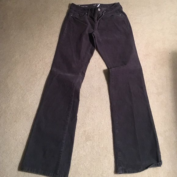 Loft grey boot cut corduroy pants Size, 0 curvy bootcut corduroy pant in great condition LOFT Pants Boot Cut & Flare