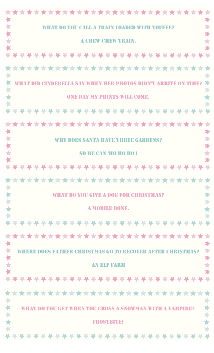 Christmas Cracker Joke Template Jokes Wall