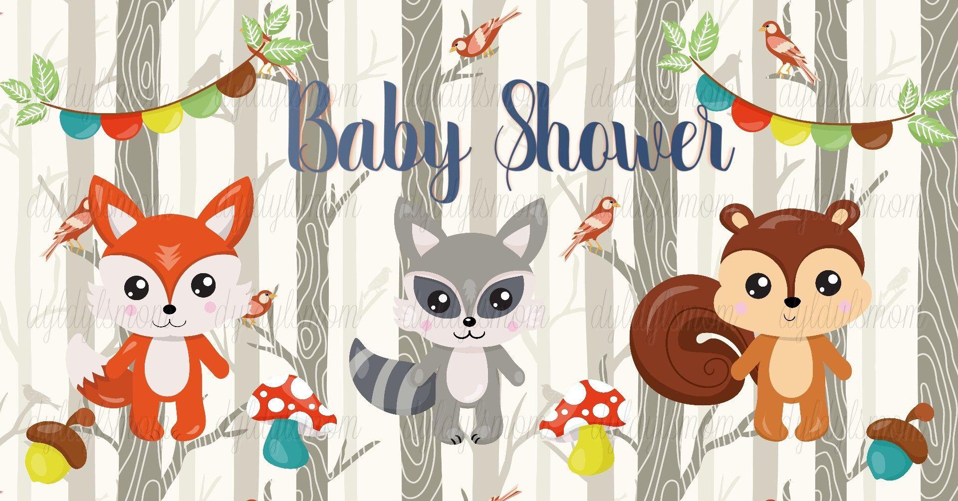 Woodland Creatures Baby Shower Facebook Event Cover Photo In 2020 Woodland Creatures Baby Shower Baby Shower Facebook Facebook Event