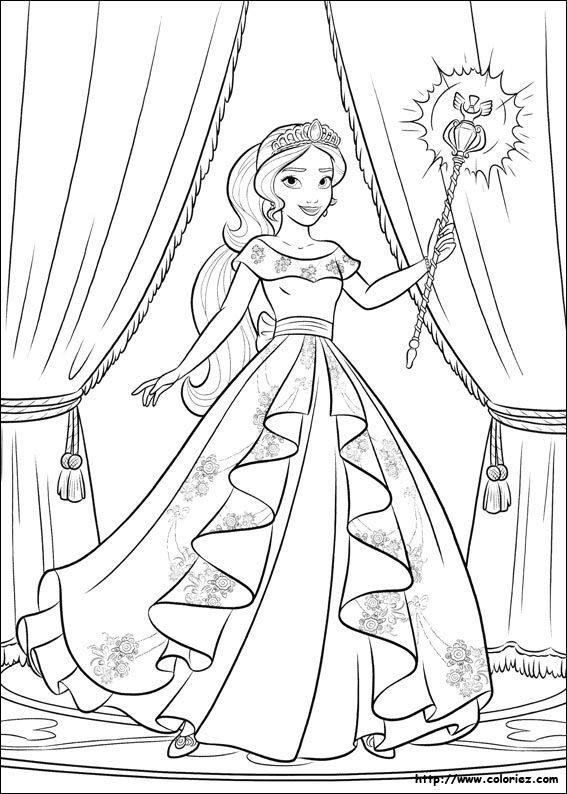 Princess Elena Of Avalor Colouring Page Disney Coloring Pages Disney Princess Coloring Pages Barbie Coloring Pages