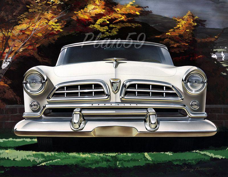 1955 Chrysler Windsor Deluxe | Vintage Illustration | Pinterest | Cars