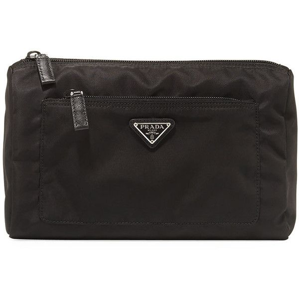 52fde52bf562 Prada Nylon Extra-Large Cosmetic Pouch ( 280) ❤ liked on Polyvore featuring  beauty products