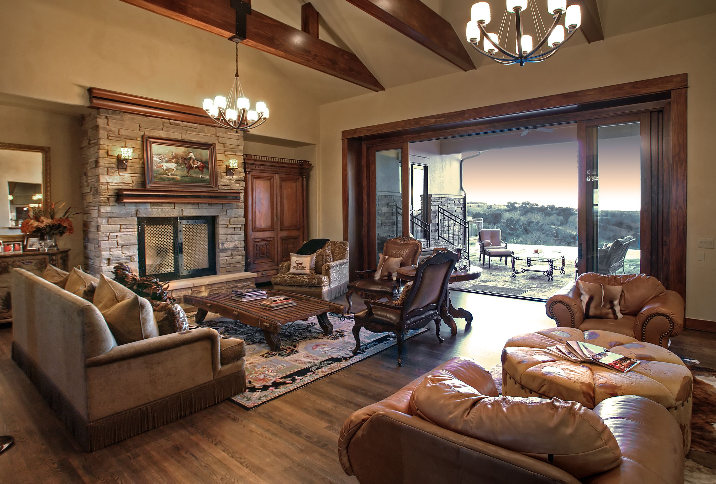 Neutral With Oak Molding Country House Decor Hill Country