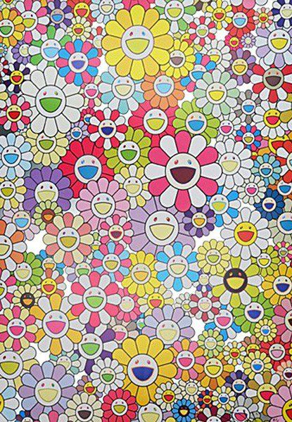 An Homage to Yves Klein Multicolor B by Takashi Murakami