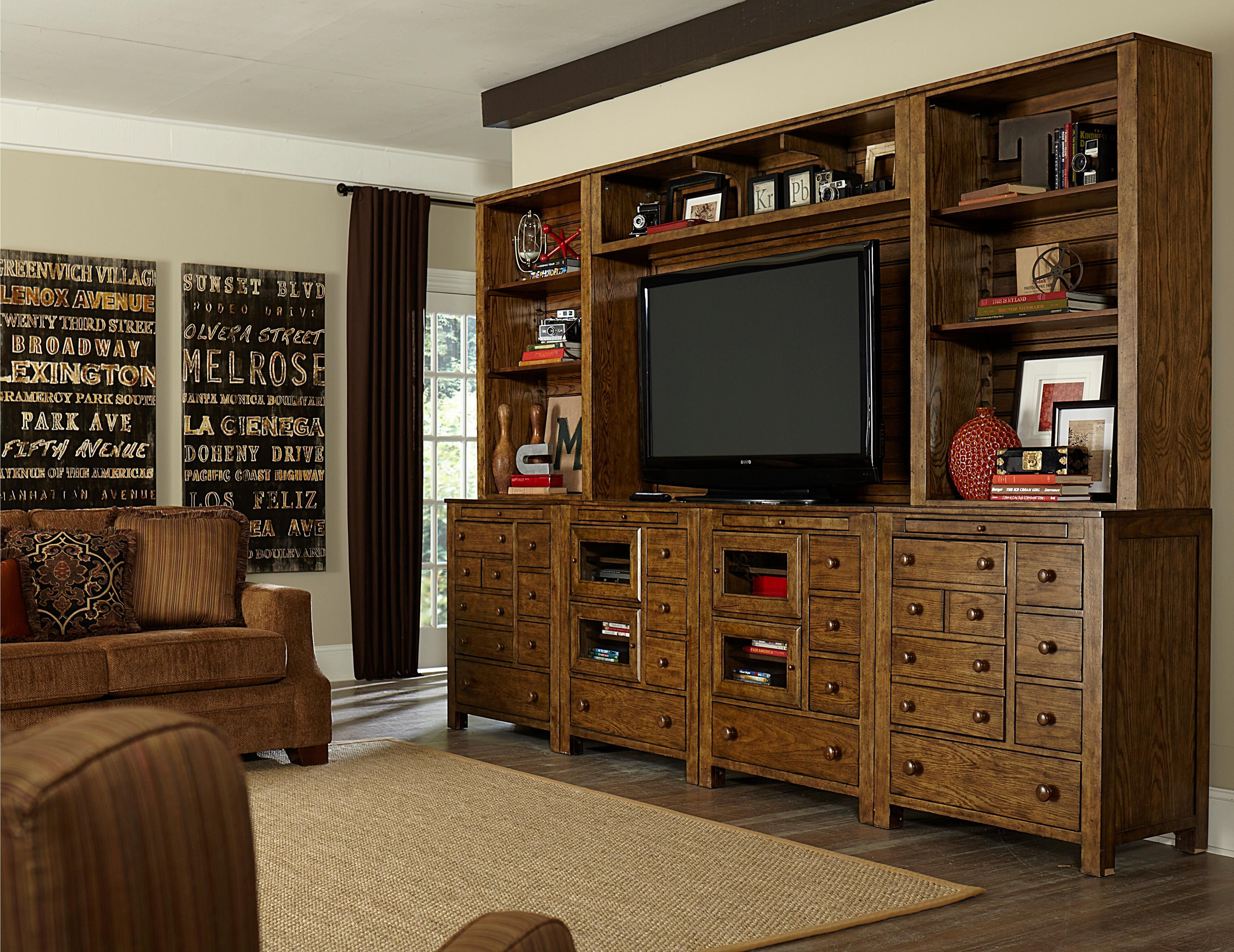 New Vintage Wall Unit By Broyhill Furniture