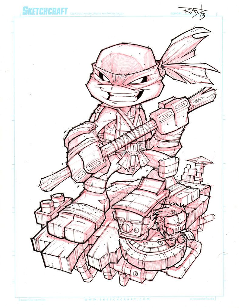 Tmnt Mini Leo Lines Done Ready To Color Art Is For Game Cave
