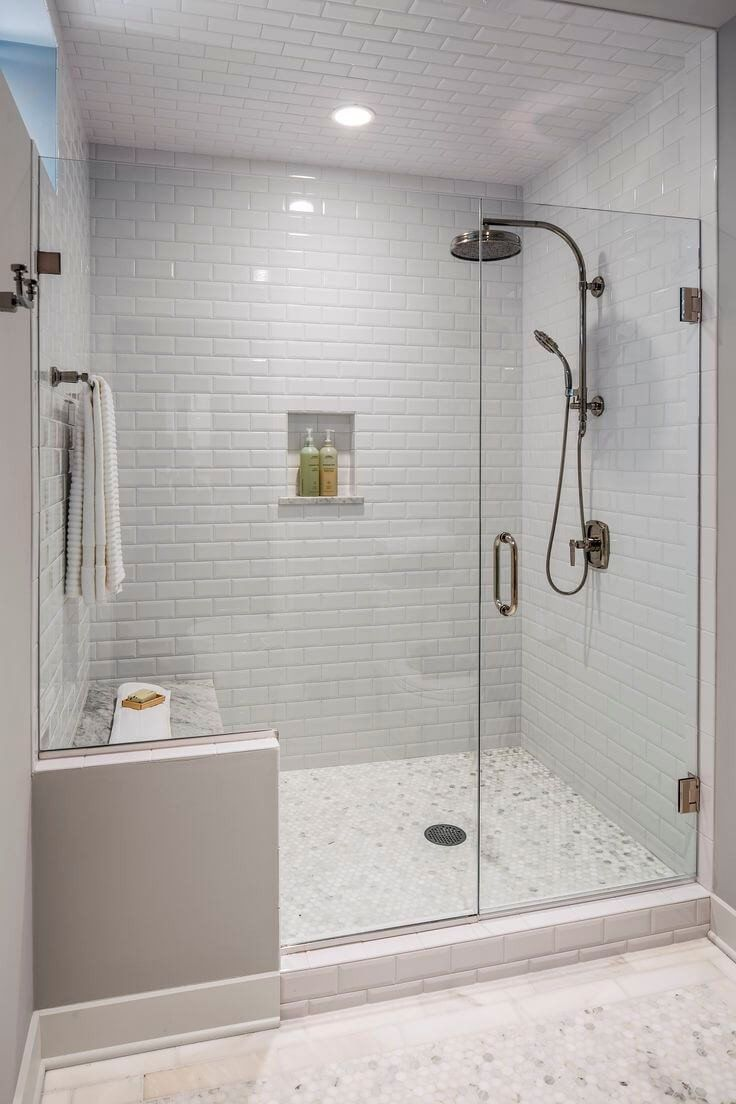 Most Por Small Bathroom Remodel Ideas On A Budget In 2018 This Beautiful Look Was Created With Cool Colors And Change Of Layout