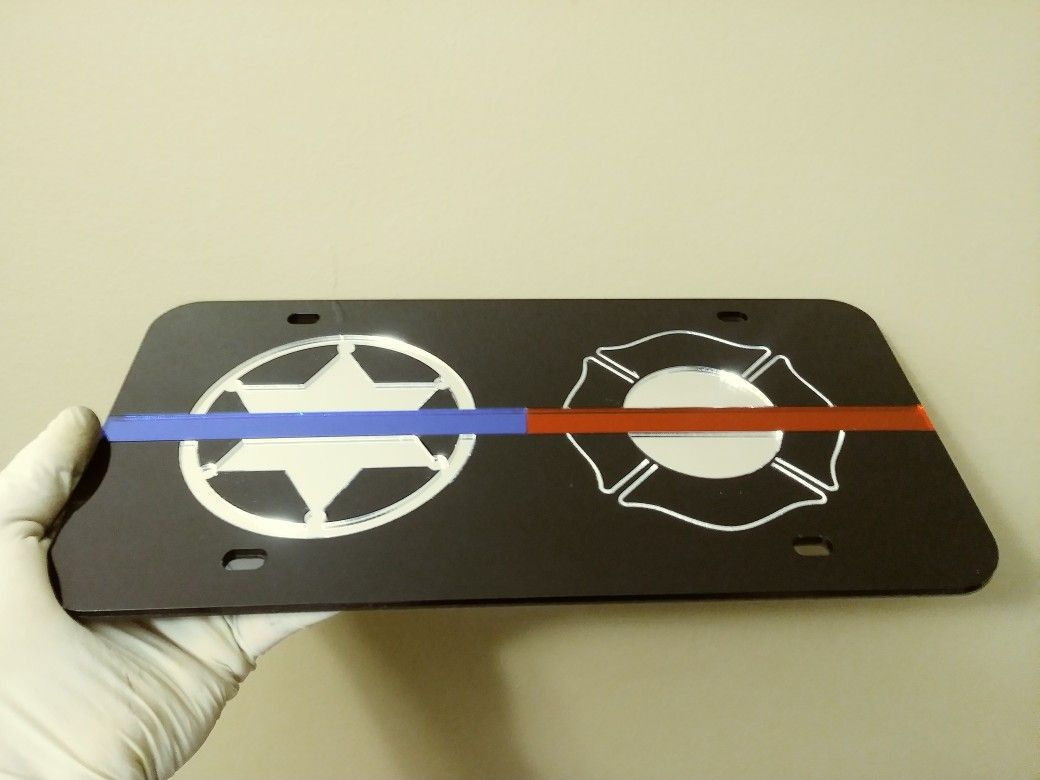 Design Your Own Mirrored Acrylic License Plate