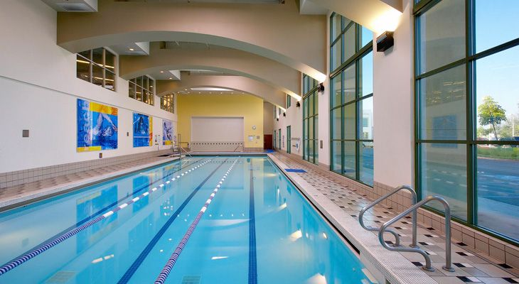 The pool at la fitness life is better after a swim la