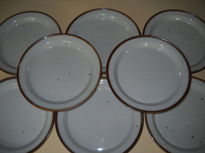 Set Of 4 Dansk Designs Denmark Niels Refsgaard Brown Mist 7 Quot Bread Plate Teller Bemalen Teller