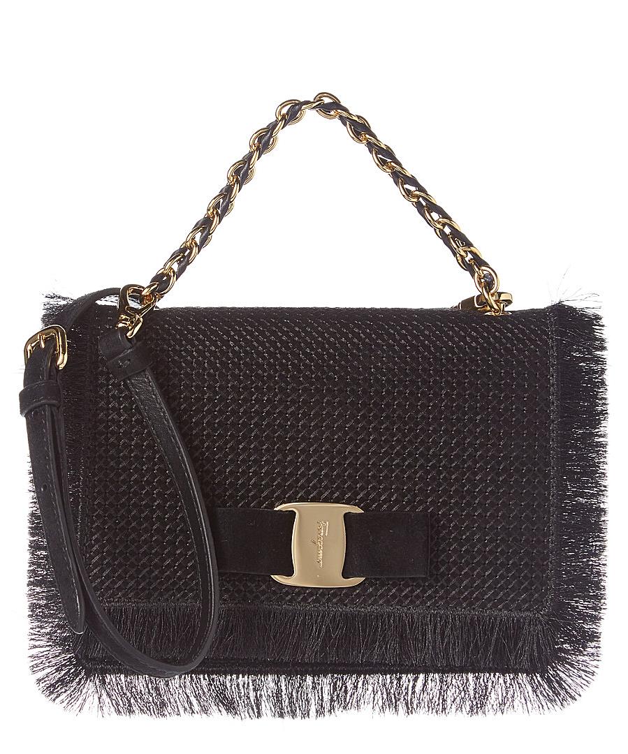 40e1ef24f2a7 SALVATORE FERRAGAMO Ginny Small Vara Fringe Leather Flap Bag .   salvatoreferragamo  bags  shoulder bags  hand bags  leather  lining