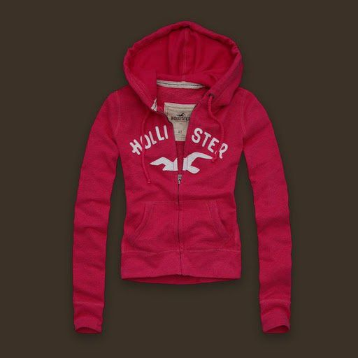 Abercrombie Hollister Black Friday Sale Womens Hoodies Rose Red
