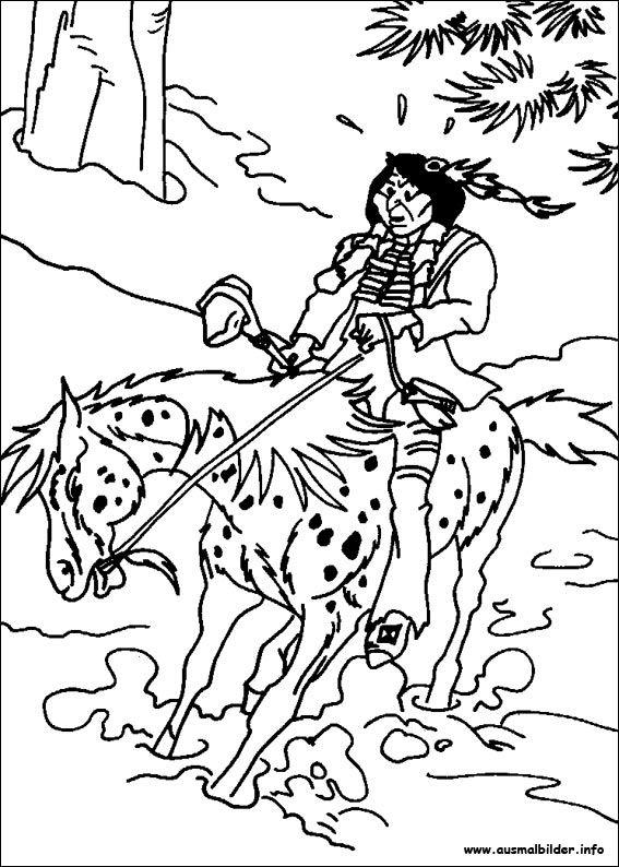 ausmalbilder yakari pferde 01  ausmalbilder  pinterest