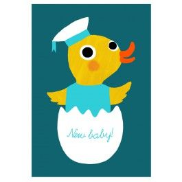 Ansichtkaart new baby boy
