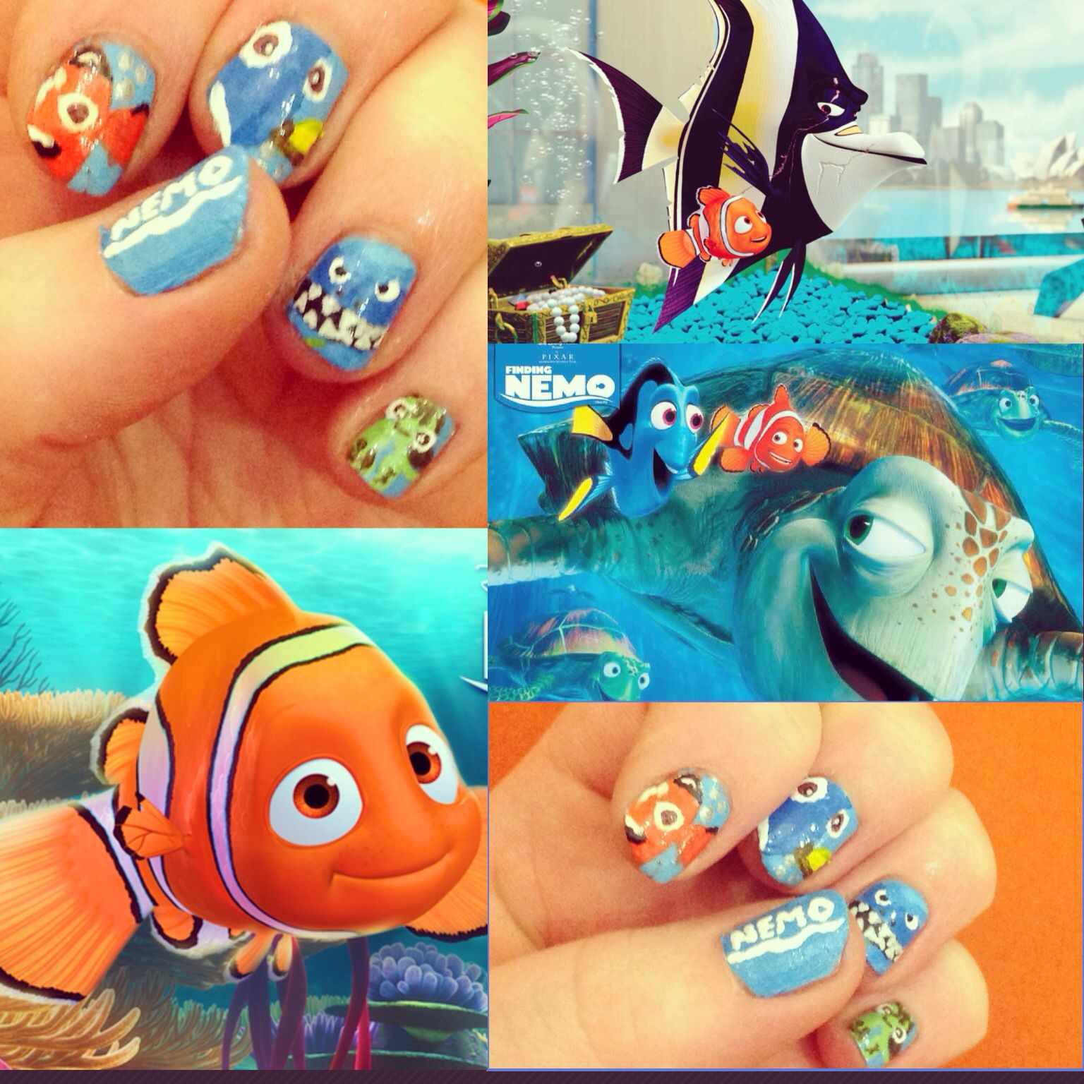 Finding nemo nail art my nails pinterest finding nemo nail art prinsesfo Gallery