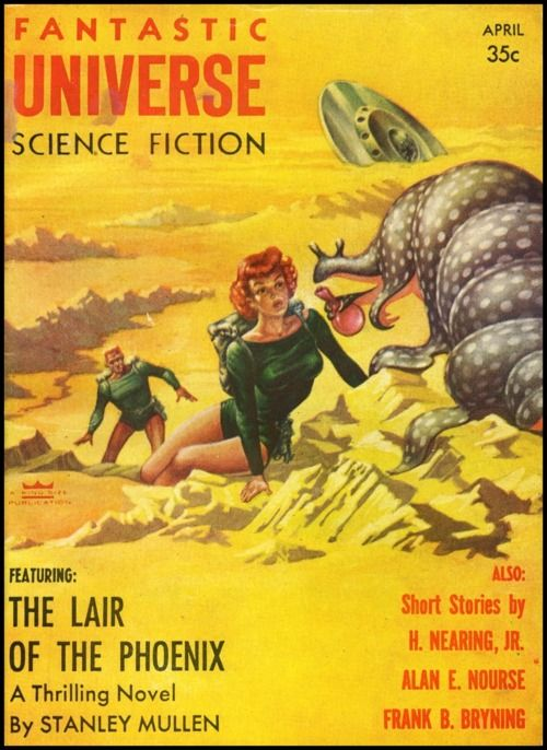 vitazur:  Fantastic Universe 1956. Cover art by Frank Kelly Freas.
