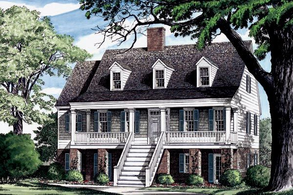 Traditional Style House Plan 86275 With 4 Bed 4 Bath 2 Car Garage Colonial House Plans Coastal House Plans Southern House Plans