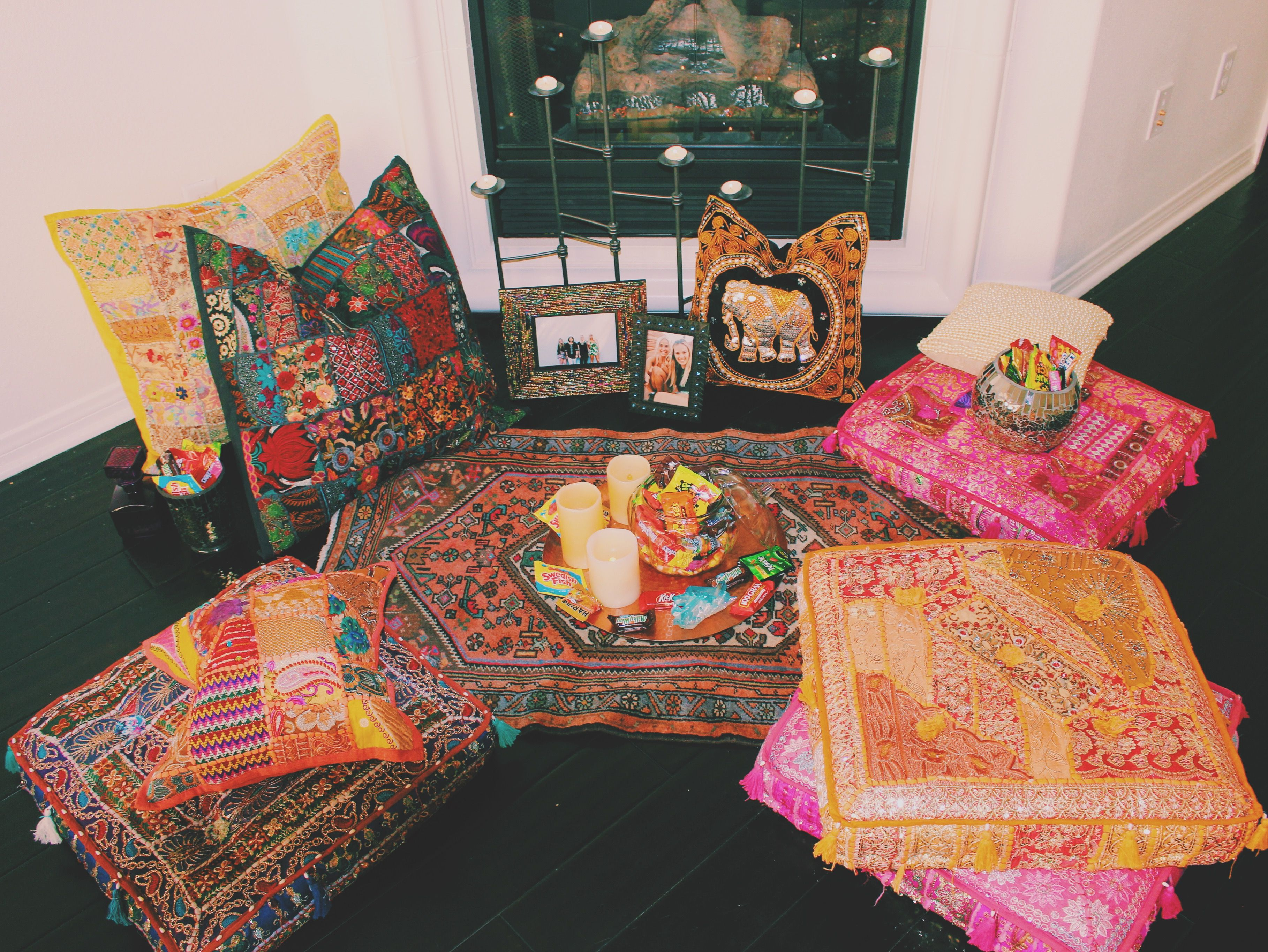 Bohemian Bedroom Inspiration✨Claire Bloom & Lady Soverign Pillow Covers from Lady Scorpio☽ ✩ Save 25% off all orders with code PINTERESTXO at checkout | Bohemian Tapestry Candy Boho Pillow Case Decor by Lady Scorpio | Shop Now LadyScorpio101.com | Interior Design by Kaitlyn Johnson @kaitlynjohnsondesign | @LadyScorpio101