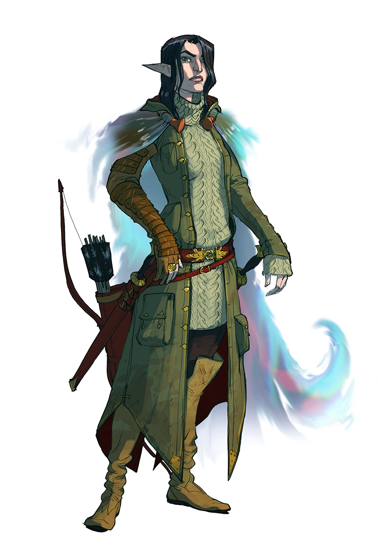 female elf ranger with blur cloak pathfinder pfrpg dnd d d 3 5 5th