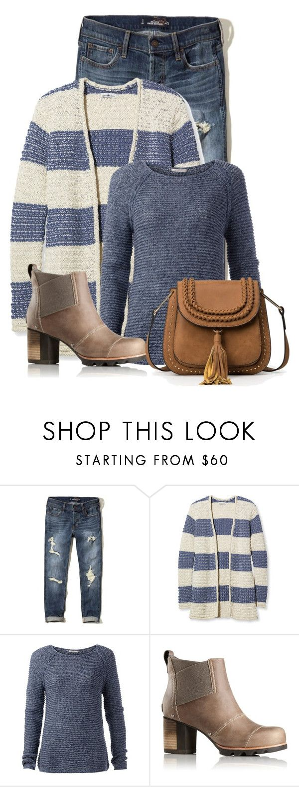 """Untitled #19756"" by nanette-253 ❤ liked on Polyvore featuring Hollister Co., L.L.Bean, Tommy Hilfiger and SOREL"