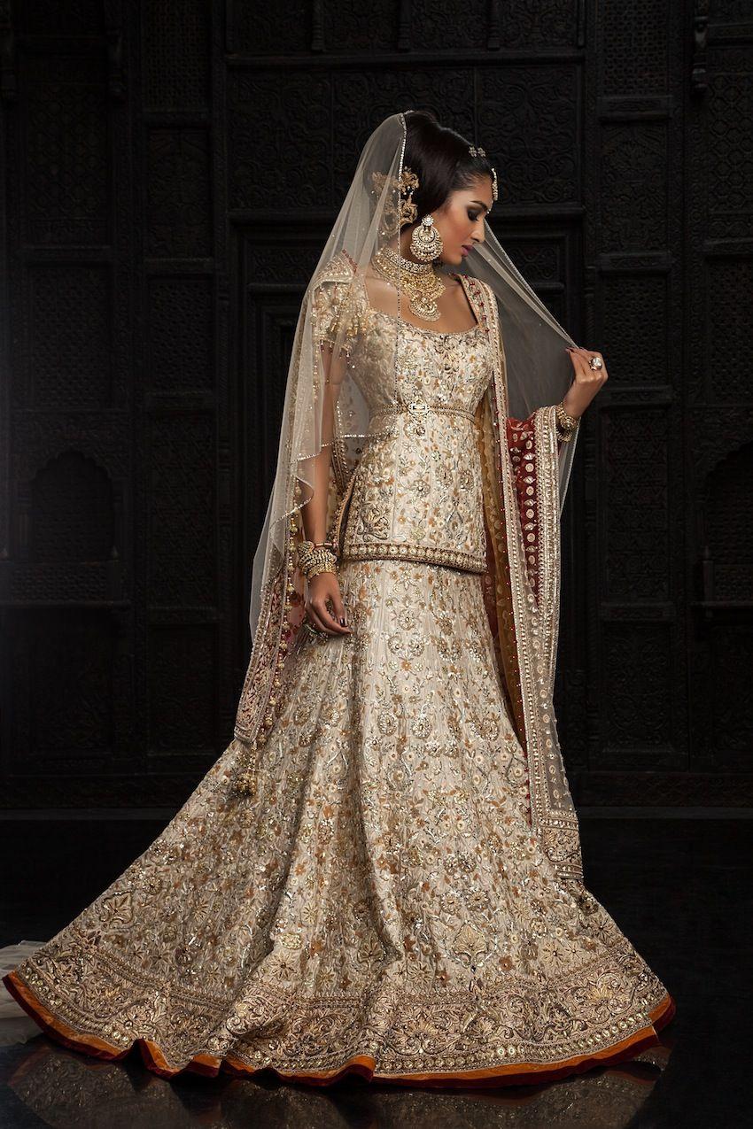 Brown wedding dresses  Tarun Tahiliani Modern Mughalus Collection love how it frames the