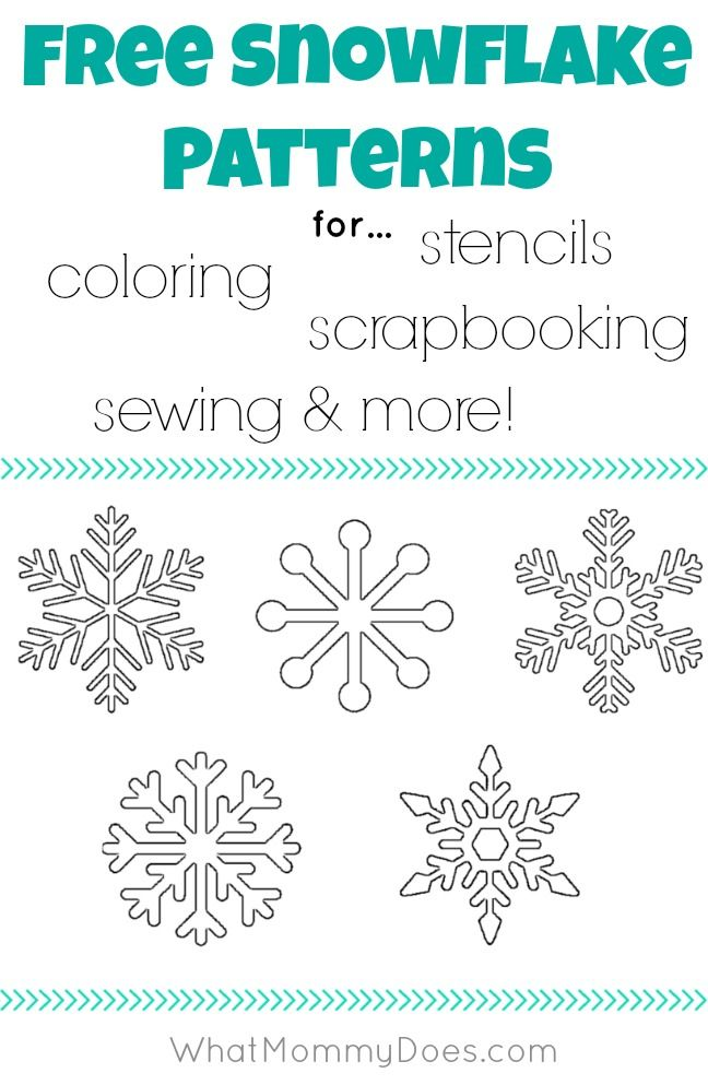 snowflake templates for coloring pages stencils scrapbooking sewing patterns typeaparent