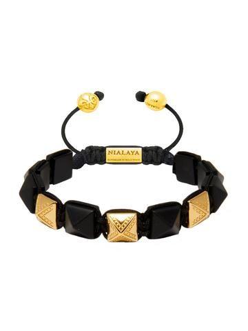 Nialaya Himalaya Bracelet with Matte Onyx - Extra Large 10lGbL3M