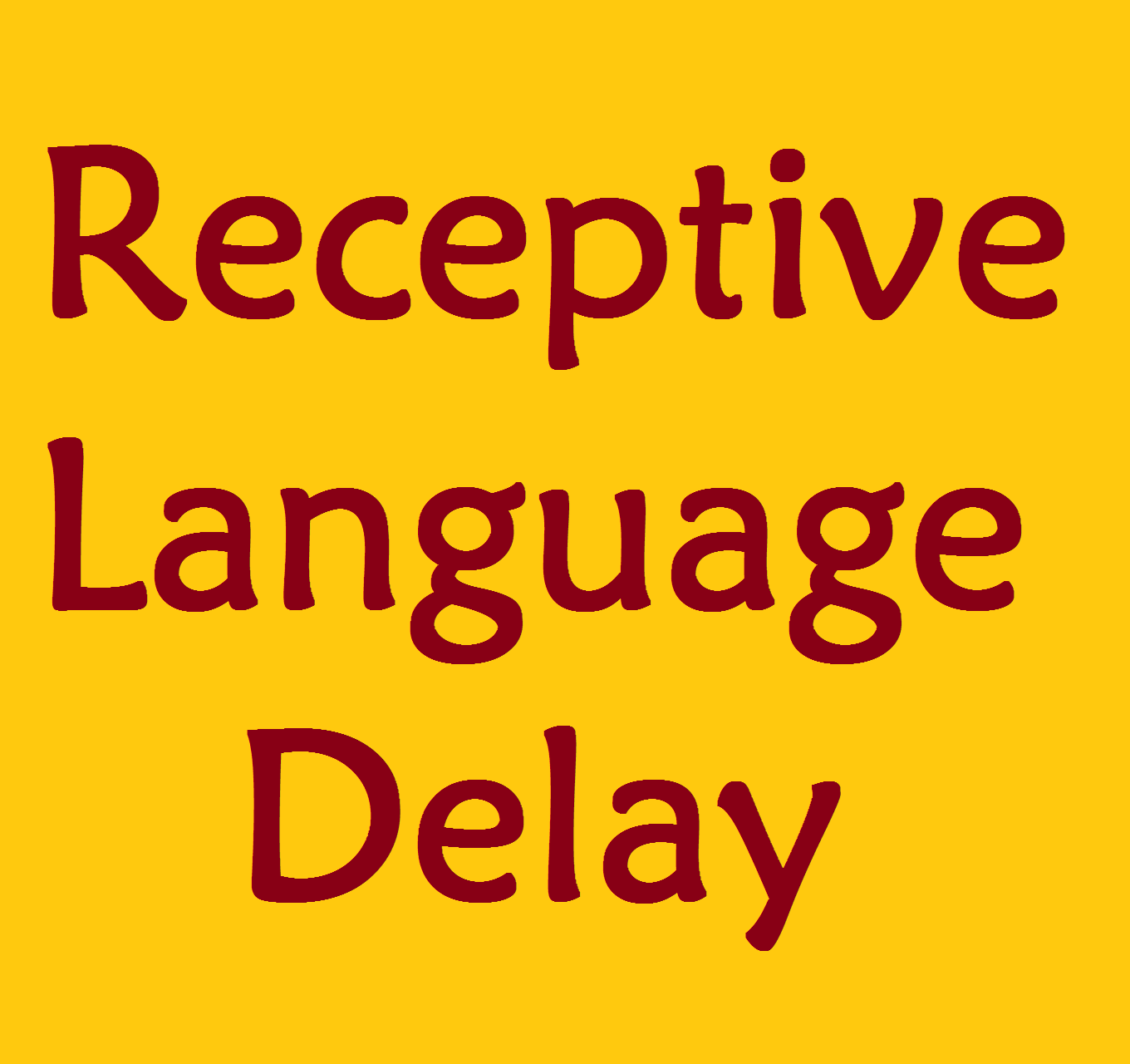 Receptive Language Delay Resource Page