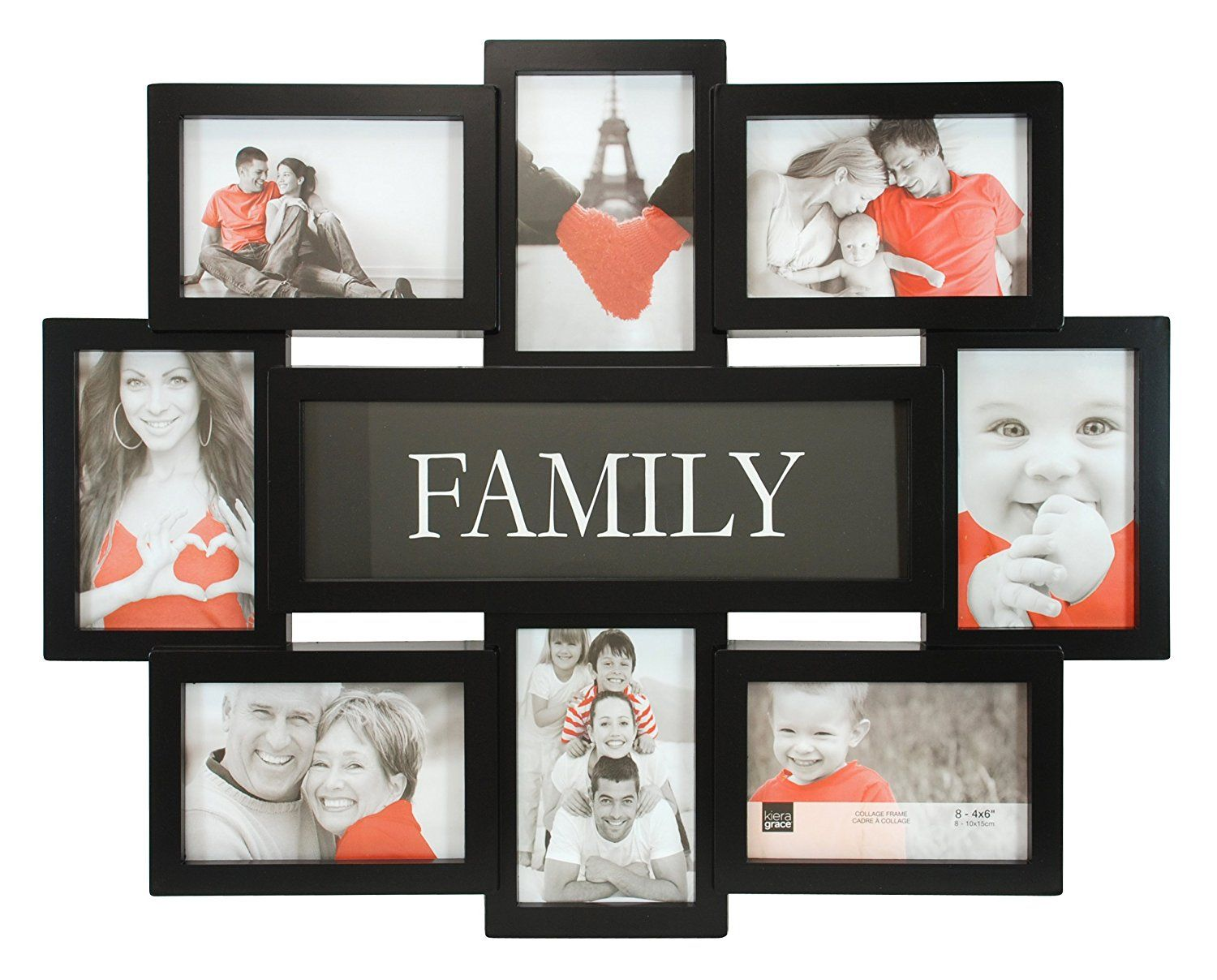 Kiera Grace Family Collage Frame 17 5 By 22 Inch Holds 8 4 By 6 Inch Photos Black You Can Fin Family Collage Frame Family Collage Collage Picture Frames