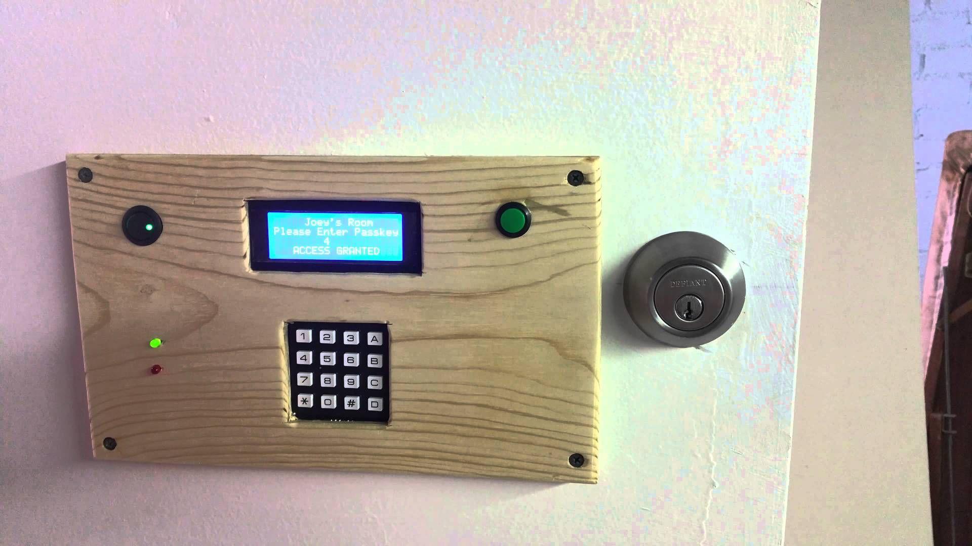 arduino powered door lock system arduino projects pinterest door lock system arduino and. Black Bedroom Furniture Sets. Home Design Ideas
